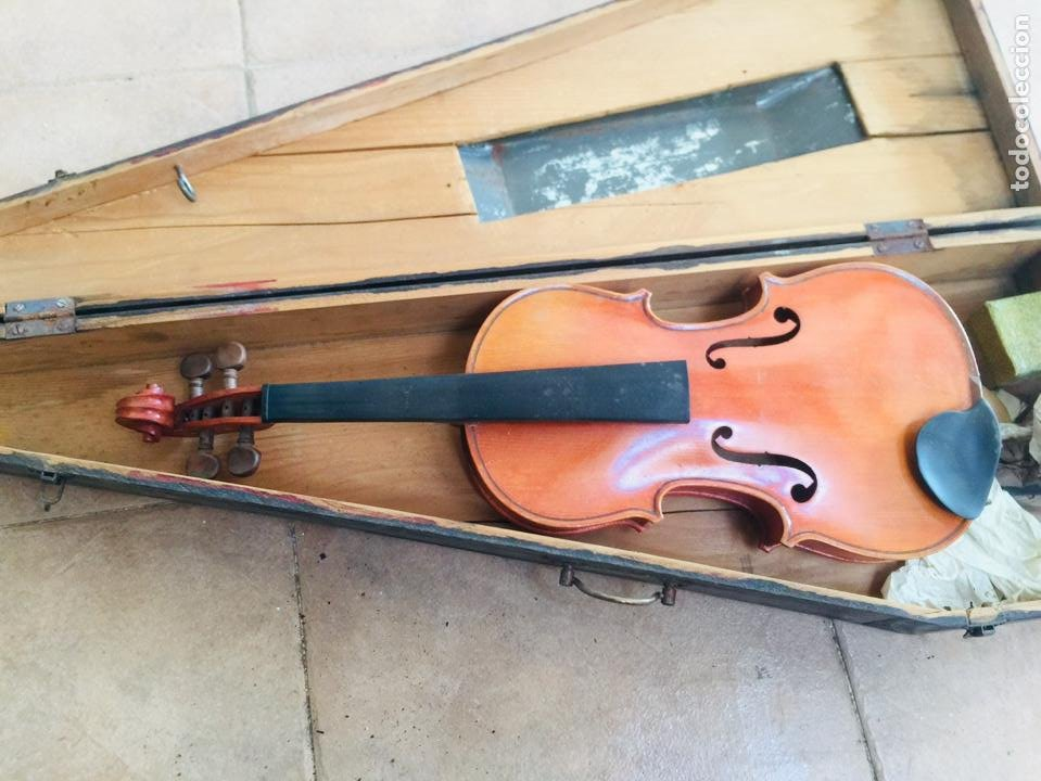 VIOLIN ANTIGUO FRANCES TOMAS BRETON (Música - Instrumentos Musicales - Cuerda Antiguos)