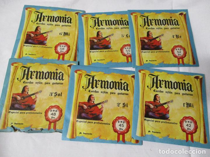JUEGO COMPLETO DE CUERDAS PARA GUITARRA MARCA ARMONIA COLOR DE ENVASE AZUL PACO DE LUCIA (Música - Instrumentos Musicales - Accesorios)