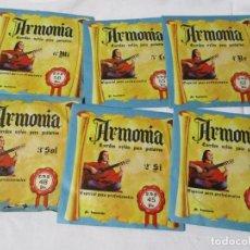 Instruments Musicaux: JUEGO COMPLETO DE CUERDAS PARA GUITARRA MARCA ARMONIA COLOR DE ENVASE AZUL PACO DE LUCIA. Lote 223833287