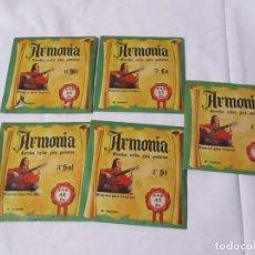 Instrumentos musicales: JUEGO DE 5 CUERDAS PARA GUITARRA MARCA ARMONIA COLOR DE ENVASE VERDE PACO DE LUCIA. Lote 223833817