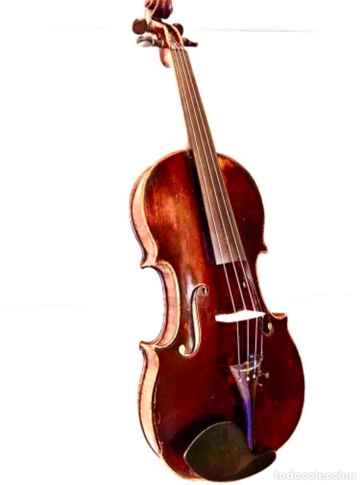 VIOLÍN FRANCÉS DE LA PRIMERA MITAD DE SIGLO XIX AUTOR NICOLÁS AINE MUY BUEN SONIDO (Música - Instrumentos Musicales - Cuerda Antiguos)