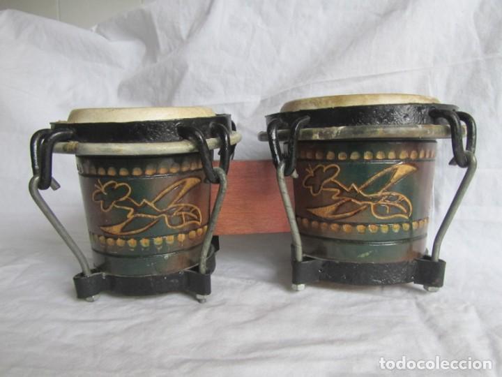 Instrumentos musicales: Pareja de tambores de madera, piel e hierro, Cuba - Foto 2 - 224607607