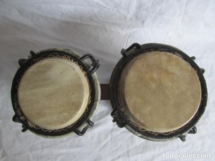 Instrumentos musicales: Pareja de tambores de madera, piel e hierro, Cuba - Foto 3 - 224607607
