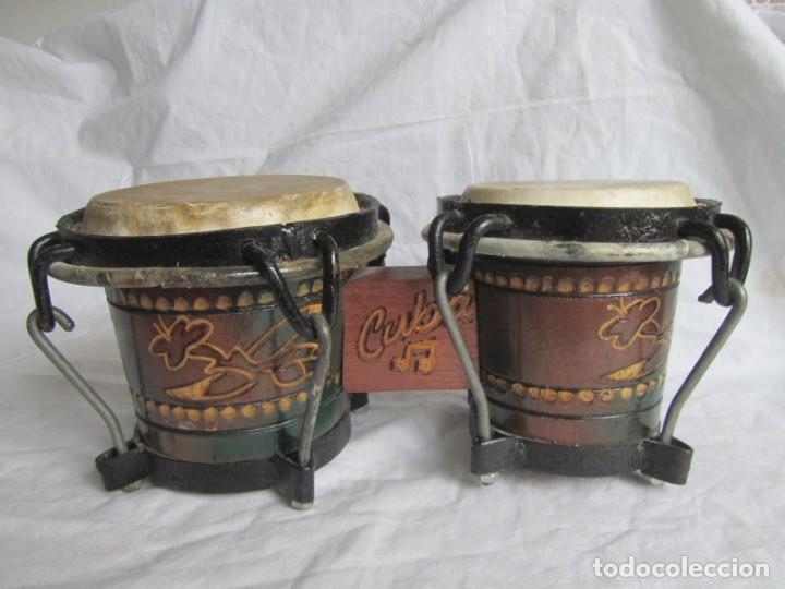 Instrumentos musicales: Pareja de tambores de madera, piel e hierro, Cuba - Foto 4 - 224607607