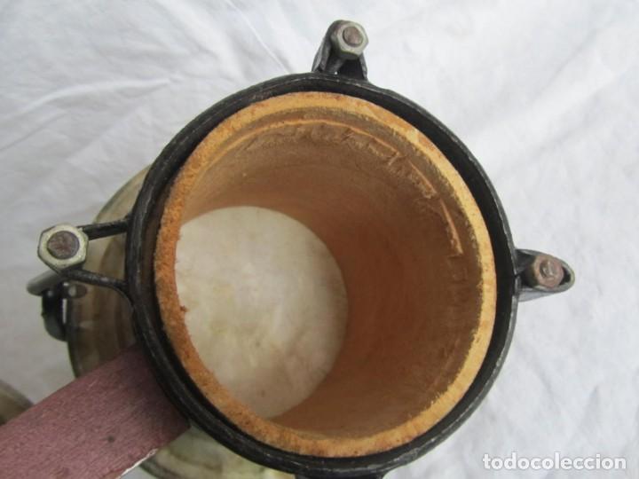Instrumentos musicales: Pareja de tambores de madera, piel e hierro, Cuba - Foto 8 - 224607607