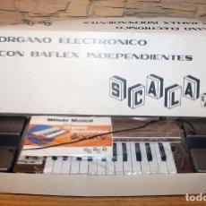 Instrumentos musicales: SCALA - ORGANO ELECTRONICO CON BAFLEX INDEPENDIENTES - NUEVO A ESTRENAR Y EN SU CAJA - AÑOS 70. Lote 224746775