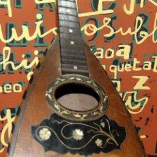 Instrumentos musicales: ANTIGUA MANDOLINA XIX - INCRUSTACIONES EN NACAR Y MARQUETERÍA - SIN CUERDAS - RESTAURADO. W. Lote 224836608