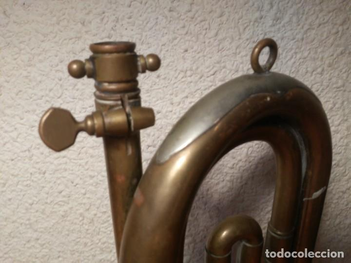 Instrumentos musicales: Antigua trompeta Corneta incompleta - Foto 2 - 224930596