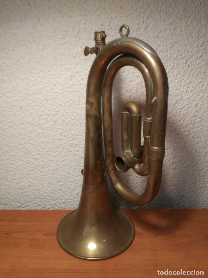 Instrumentos musicales: Antigua trompeta Corneta incompleta - Foto 6 - 224930596