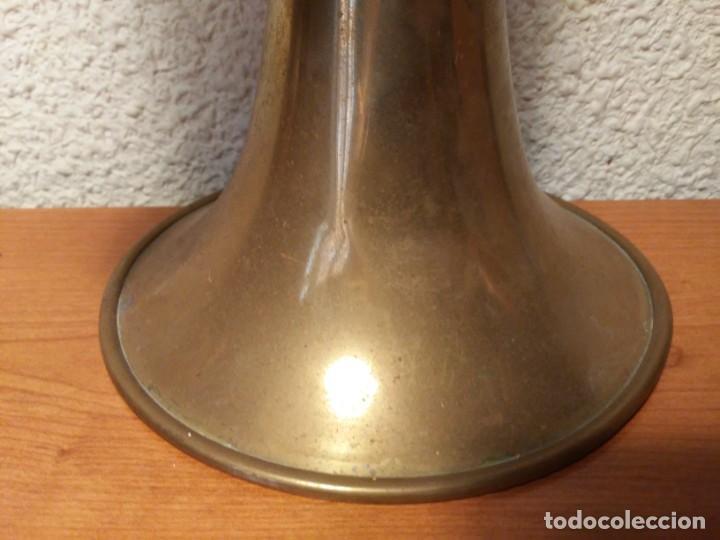 Instrumentos musicales: Antigua trompeta Corneta incompleta - Foto 10 - 224930596