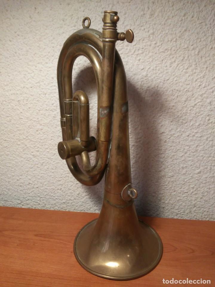 Instrumentos musicales: Antigua trompeta Corneta incompleta - Foto 11 - 224930596