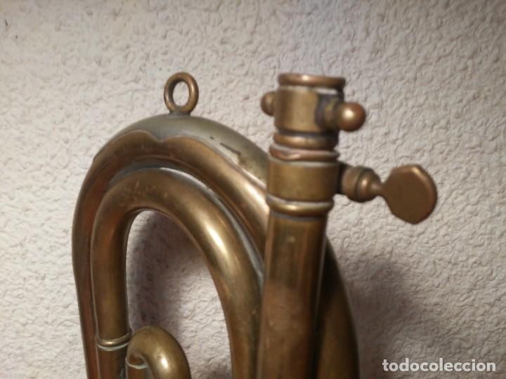 Instrumentos musicales: Antigua trompeta Corneta incompleta - Foto 12 - 224930596