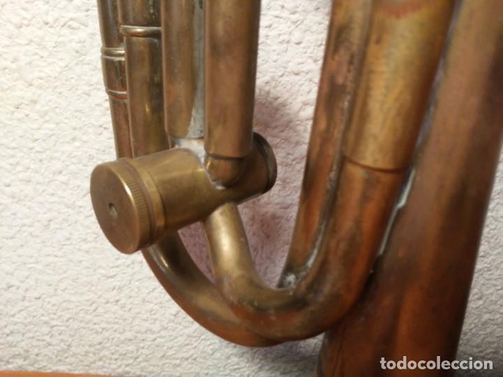 Instrumentos musicales: Antigua trompeta Corneta incompleta - Foto 13 - 224930596