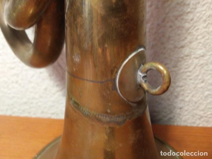 Instrumentos musicales: Antigua trompeta Corneta incompleta - Foto 14 - 224930596