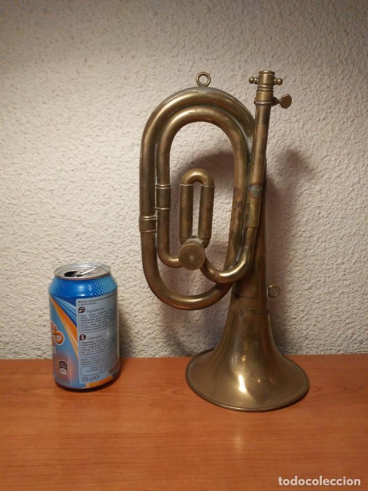 Instrumentos musicales: Antigua trompeta Corneta incompleta - Foto 16 - 224930596