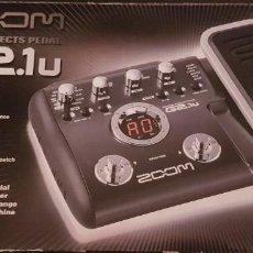 Instrumentos musicales: ZOOM G2.1U PEDAL PEDALERA NUEVA PARA EFECTOS DE GUITARRA. Lote 225576860