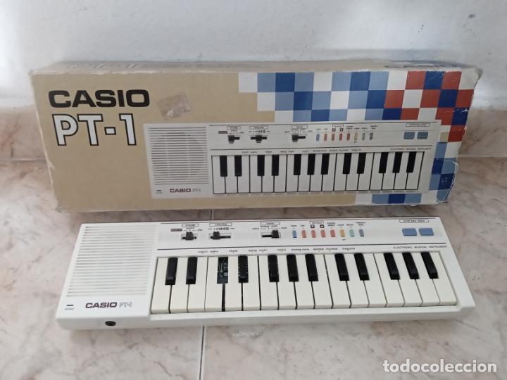TECLADO PIANO CASIO PT1 PT-1 BLANCO (Música - Instrumentos Musicales - Pianos Antiguos)