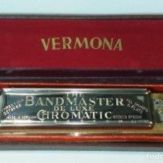 "Instrumentos musicales: ARMÓNICA VINTAGE VERMONA - ""THE BAND MASTER CHROMATIC DE LUXE"" - ALEMANIA - ENVÍO GRATIS.. Lote 226666385"