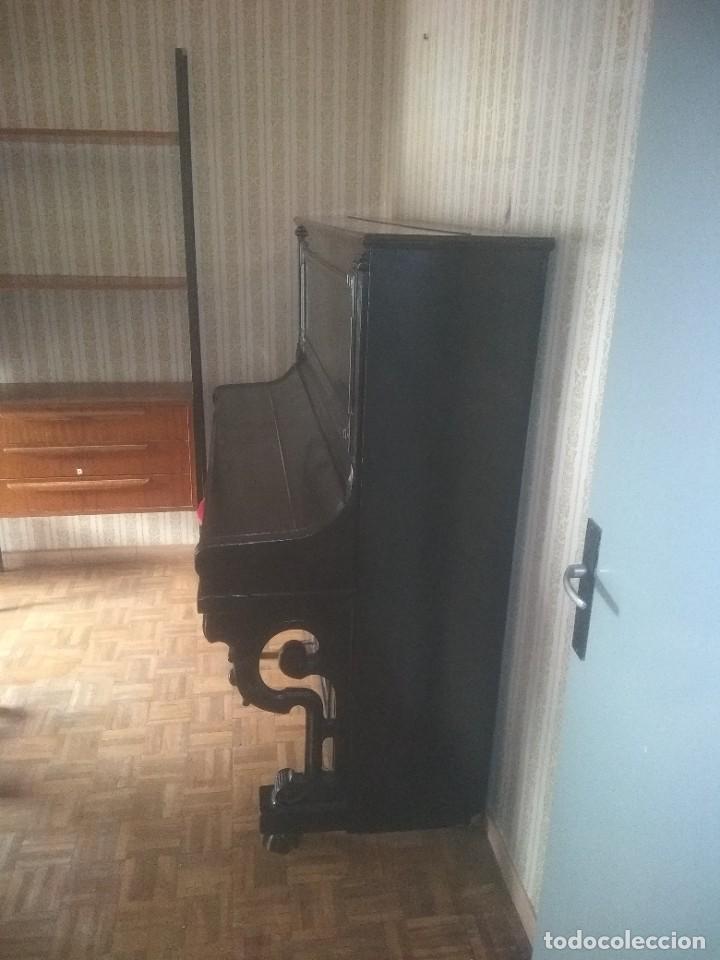 PIANO ANTIGUO ALEMÁN DE 2 ASPAS (Música - Instrumentos Musicales - Pianos Antiguos)
