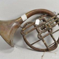 Instruments Musicaux: IMPRESIONANTE ANTIGUA TROMPA , CUERNO DE BALADA SIGLO XIX LONDRES FIRMADO PRECIO VENTA DIRECTA: 499,. Lote 227781820