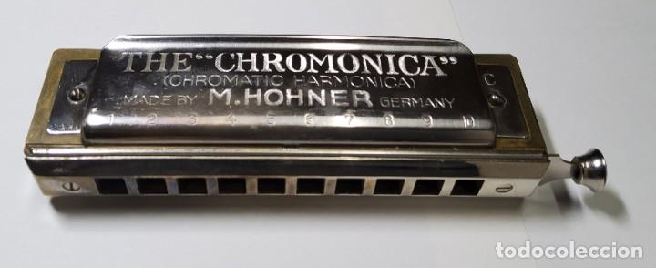 Instrumentos musicales: ARMONICA ALEMANA DE LA MARCA HOHNER CHROMONICA 260 EN SU CAJITA ORIGINAL.EXTRAORDINARIO ESTADO - Foto 2 - 228314080