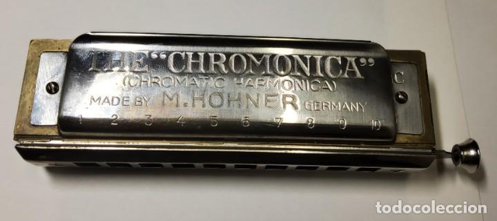 Instrumentos musicales: ARMONICA ALEMANA DE LA MARCA HOHNER CHROMONICA 260 EN SU CAJITA ORIGINAL.EXTRAORDINARIO ESTADO - Foto 3 - 228314080