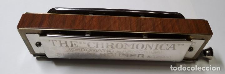 Instrumentos musicales: ARMONICA ALEMANA DE LA MARCA HOHNER CHROMONICA 260 EN SU CAJITA ORIGINAL.EXTRAORDINARIO ESTADO - Foto 4 - 228314080