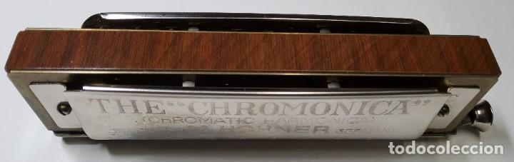 Instrumentos musicales: ARMONICA ALEMANA DE LA MARCA HOHNER CHROMONICA 260 EN SU CAJITA ORIGINAL.EXTRAORDINARIO ESTADO - Foto 5 - 228314080