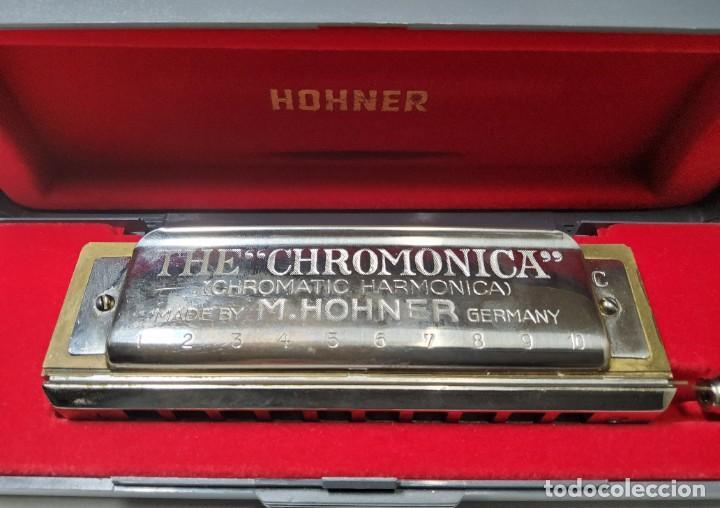 ARMONICA ALEMANA DE LA MARCA HOHNER CHROMONICA 260 EN SU CAJITA ORIGINAL.EXTRAORDINARIO ESTADO (Música - Instrumentos Musicales - Viento Metal)
