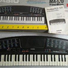 Instrumentos musicales: TECLADO PIANO CASIO FUNCIONANDO MA120. Lote 229006995