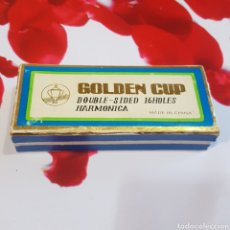 Instrumentos musicales: HARMONICA GOLDEN CUP DOUBLE-SIDED 16 HOLES. Lote 229191725