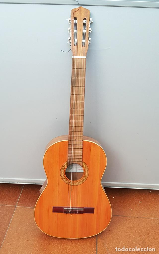 GUITARRA ESPAÑOLA JOSE MAS Y MAS, ETIQUETADA MARCOS BUIL DE BARBASTRO AÑOS 80, COMPLETA BUEN ESTADO (Música - Instrumentos Musicales - Guitarras Antiguas)