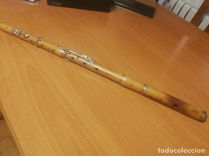 ANTIGUA FLAUTA TRAVESERA J.T.L.JEROME THIBOUVILLE-LAMY PARIS MADERA BOJ SIGLO XIX RESTAURADA (Música - Instrumentos Musicales - Viento Madera)