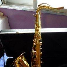 Instrumentos musicales: SAXO TENOR DORADO. Lote 230085870