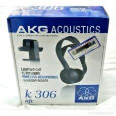 Instrumentos musicales: CASCOS AURICULARES AKG ACOUSTICS K 306 AFC WIRELESS UHF STEREO HEADPHONES, NUEVO CON CAJA PRECINTADA. Lote 230289480