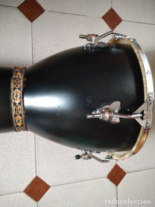 Instrumentos musicales: TIMBAL DE PIEL MARCA SANTAFE. MEDIDAS: 33 CM DIÁMETRO/ 63 CM ALTURA. - Foto 4 - 230428530