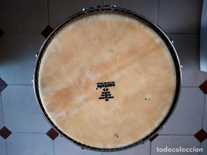 Instrumentos musicales: TIMBAL DE PIEL MARCA SANTAFE. MEDIDAS: 33 CM DIÁMETRO/ 63 CM ALTURA. - Foto 11 - 230428530