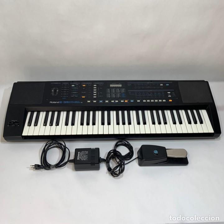 TECLADO ELECTRÓNICO SINTETIZADOR - ROLAND E- 35 INTELLIGENT SYNTHESIZER + PEDAL - ORGANO - PIANO (Música - Instrumentos Musicales - Teclados Eléctricos y Digitales)