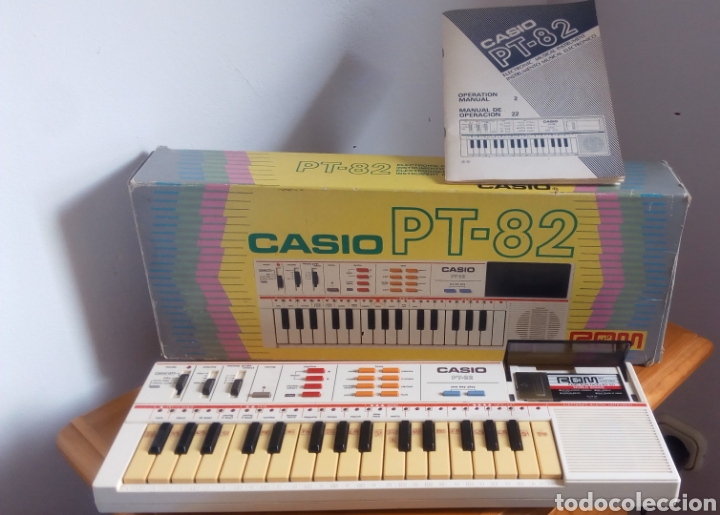 TECLADO CASIO PT-82 FUNCIONANDO CON CAJA, MANUAL Y ROM ORIGINAL (Música - Instrumentos Musicales - Teclados Eléctricos y Digitales)