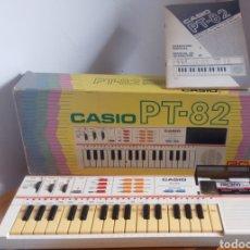 Instrumentos musicales: TECLADO CASIO PT-82 FUNCIONANDO CON CAJA, MANUAL Y ROM ORIGINAL. Lote 230830515