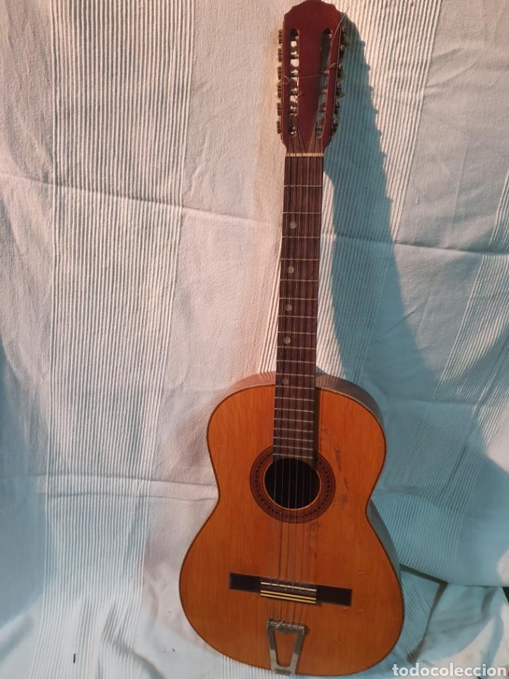 GUITARRA ESPAÑOLA. 12 CUERDAS, MARCA JUAN ESTRUCH, AÑOS 60-70. (Música - Instrumentos Musicales - Guitarras Antiguas)