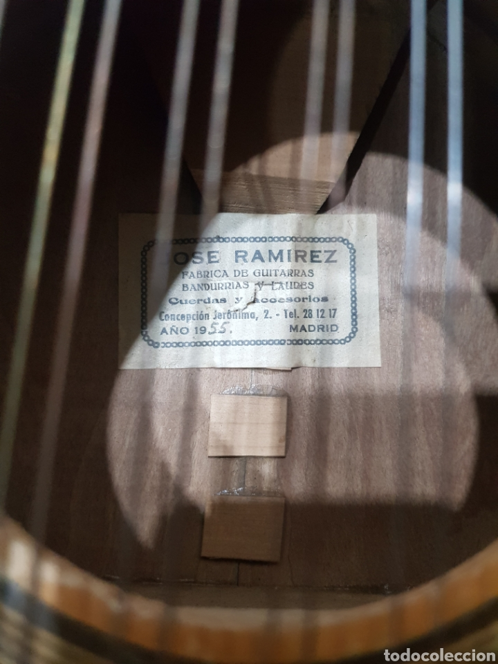 Instrumentos musicales: ANTIGUA BANDURRIA JOSE RAMIREZ 1955 - Foto 8 - 231506925