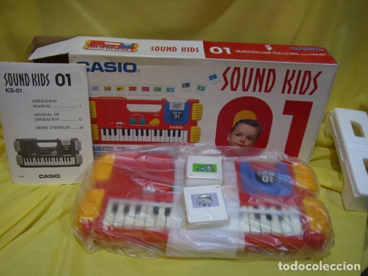 TECLADO CASIO SOUND KIDS CON TARJETA DE SONIDO KS 01, NUEVO SIN USAR (Música - Instrumentos Musicales - Teclados Eléctricos y Digitales)