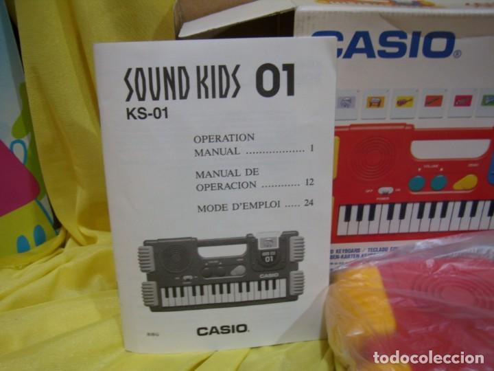 Instrumentos musicales: Teclado Casio Sound Kids con tarjeta de sonido KS 01, Nuevo sin usar - Foto 2 - 231531115
