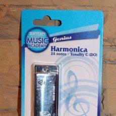 Instrumentos musicales: HARMONICA BUONTEMPI - NUEVA Y EN SU BLISTER ORIGINAL - 24 NOTAS. Lote 232753270