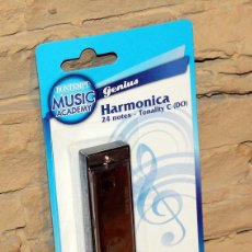 Instrumentos musicales: HARMONICA BUONTEMPI - NUEVA Y EN SU BLISTER ORIGINAL - 24 NOTAS. Lote 232753315