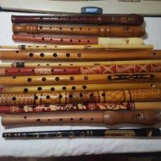 Instruments Musicaux: LOTE DE 13 FLAUTAS VARIADAS,ETNICAS Y DE PICO. Lote 232897700