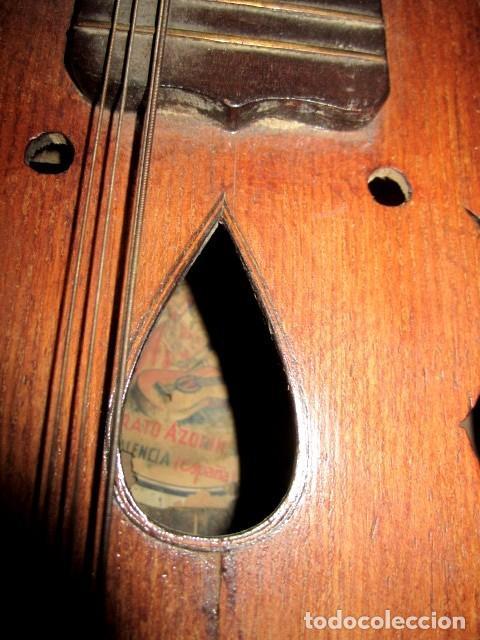 Instrumentos musicales: Laud antiguo, fabricado por Hijos de Vicente Tatay, Valencia - Foto 3 - 232940190