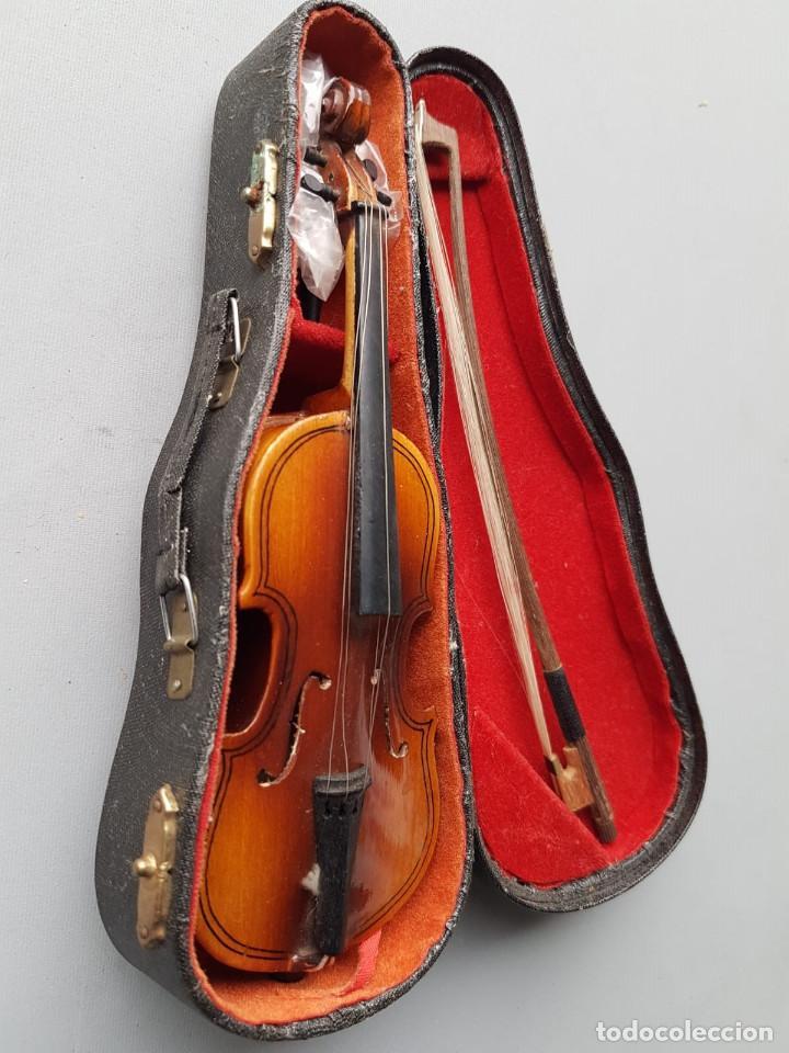 VIOLONCHELO MINIATURA. CON SU FUNDA ORIGINAL. (Música - Instrumentos Musicales - Cuerda Antiguos)