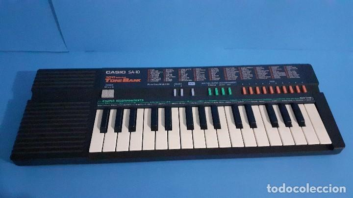 Instrumentos musicales: Organo teclado casio. Tone bank SA-10. Funcionando. - Foto 2 - 234826510